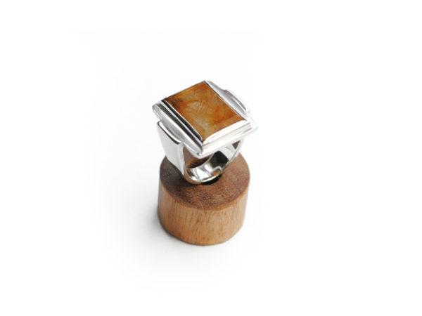 Rutile Qaurtz Art Deco Ring