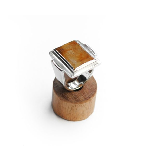 Rutile Qaurtz Art Deco Ring