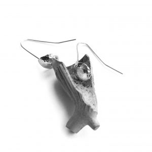 Hammered Shell Shaped Earrings